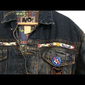 VTG Denim Jacket with Native Fringe and Beading